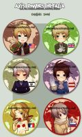 +AXIS POWERS HETALIA buttons+ by goku-no-baka