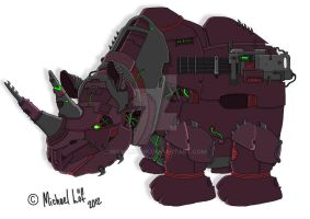 Robot Rhino by michaellof