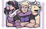 Hawkeye Hawkeye and Lucky by DeanGrayson