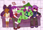 the purple haired angry brigade~~ by Patori-san