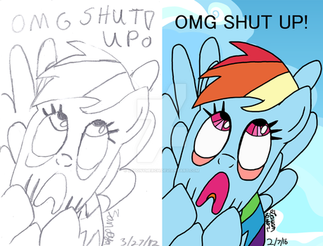 OMG JUST SHUT UUUUPPPP!!! by lcponymerch