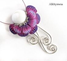 Chrome Flower in Purple by Alkhymeia