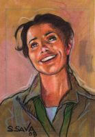 Marion Indana Jones Sketchcard by ssava
