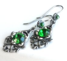 green spell earrings by JuleeMClark