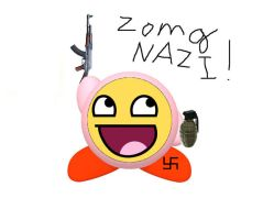 Awesome Faced Kirby Nazi by MeowMaster789