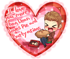 Supernatural Dean Valentine! by HappySmileGear
