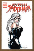 Avenging Spider-Man Black Cat Sketch Cover 2 by ChrisMcJunkin