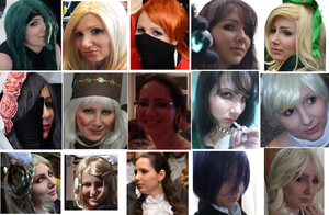 A Cosplayer faces (and Bday!) by arinaty