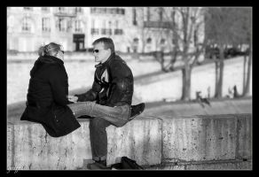 over the Seine by graffit