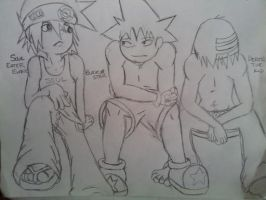 Soul, Black Star, and Death the Kid by tyler-gf123