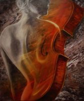 Birth of a Cello by rmsmoky