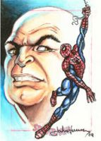 Kingpin Spider-Man sketch card by JohnHaunLE