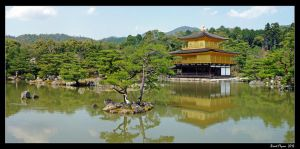 Golden Pavilion Panorama by DarthIndy