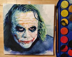 Joker watercolor by NVPStudios