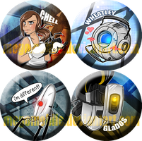 portal 2 button designs by megomobile