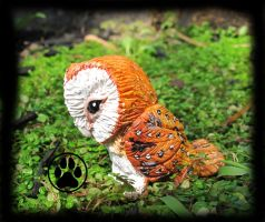 SOLD Barn owl mini solid sculpt! by CreaturesofNat