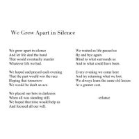 We Grew Apart in Silence by Erlance