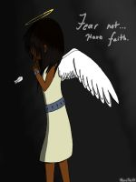 Angel, Have Faith! (colored) by RenaTheXV