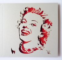 Marilyn Monroe - laser card by Piciuu