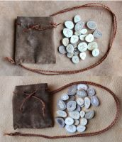 Pocket Antler Divination Sets by lupagreenwolf