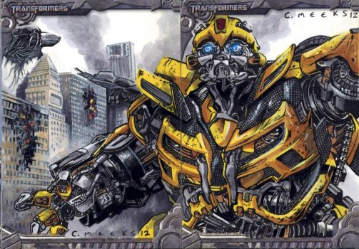 Transformers sketch card close-up Bumblebee by Kapow2003
