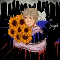 Hetalia: Ivan and Sunflowers by CipeHeheLOL