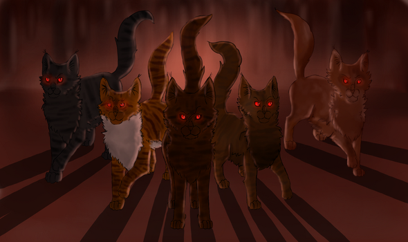 Dark Forest Warriors by purring-cactus