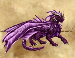 The Purple Dragon by TheDragonofDoom