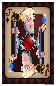 Jack of Diamonds 11x17 by JeffPerryman