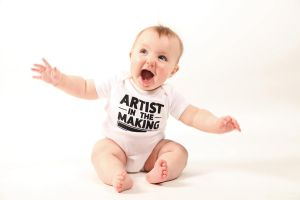 Artist In The Making White - Baby by deviantARTGear