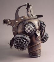 Ragnarok Steampunk Gas Mask by TomBanwell
