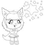 Lineart: Chibi for THExKESS by CandyArtist