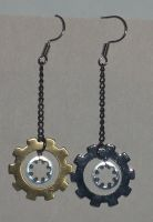 Steam Punk Jewelry Earrings by Ember-lacewing
