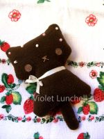 Milk choco kitty plushie by VioletLunchell
