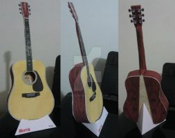Guitar Papercraft by puccadesire