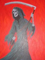 Grim Reaper painting by PumpkinJack6