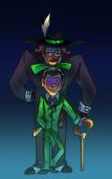 Cartoon Music Meister And Riddler by pink-ninja