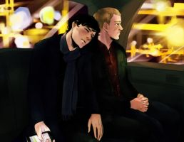 Sherlock_Midnight cab ride by krusca