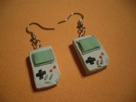 Game Boy earrings by estranged-illusions