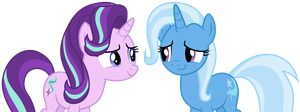 Starlight Glimmer and Trixie by SilverMapWolf