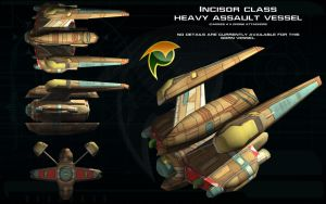 Gorn Incisor class Heavy Assault vessel ortho by unusualsuspex
