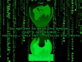 Wikileaks vs Matrix wallpaper by Juliets-Designs