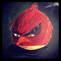 lool just a quick 55 min painting of angry bird xD by KayneTrain