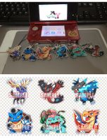 Pokemon XY and Mega Pokemon Phone Charms [OPEN] by seiryuuden