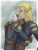 Gael and Zevran by Adre-es