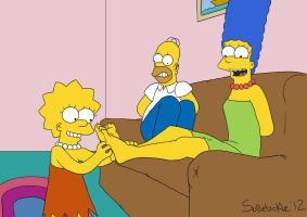 Simpson Tickle Time by solletickle