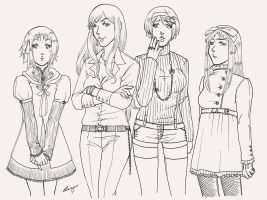 APH Ladies linearts by Psycho-Firefly