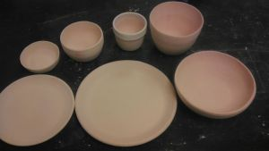Bisque Fired Dinnerware Set by Circumspecto