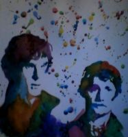Sherlock and John watercolor by hologramceph26
