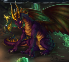 Spyro the Dragon by Laur-